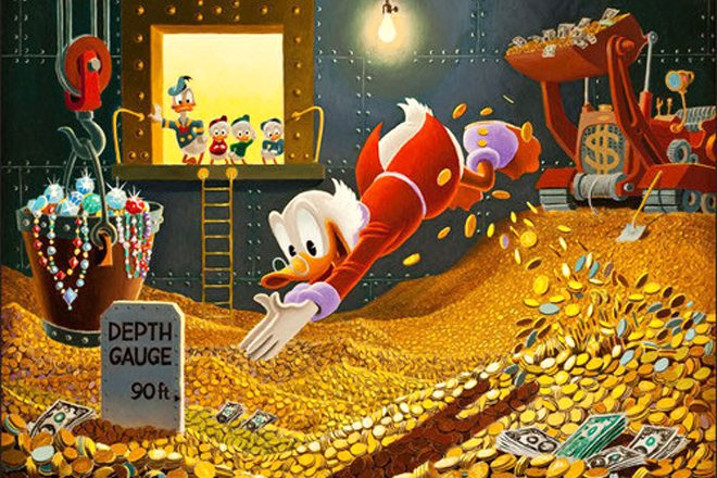 scrooge-mcduck swimming in money