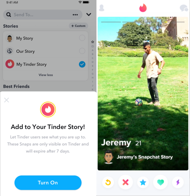 Snapchat Stories & Ads in Other Apps