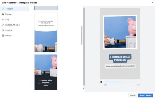 New Templates for Stories Ads