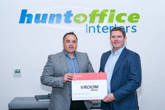 Huntoffic & VROOM Digital Google PRemier Partner Awards 2019 Nominations